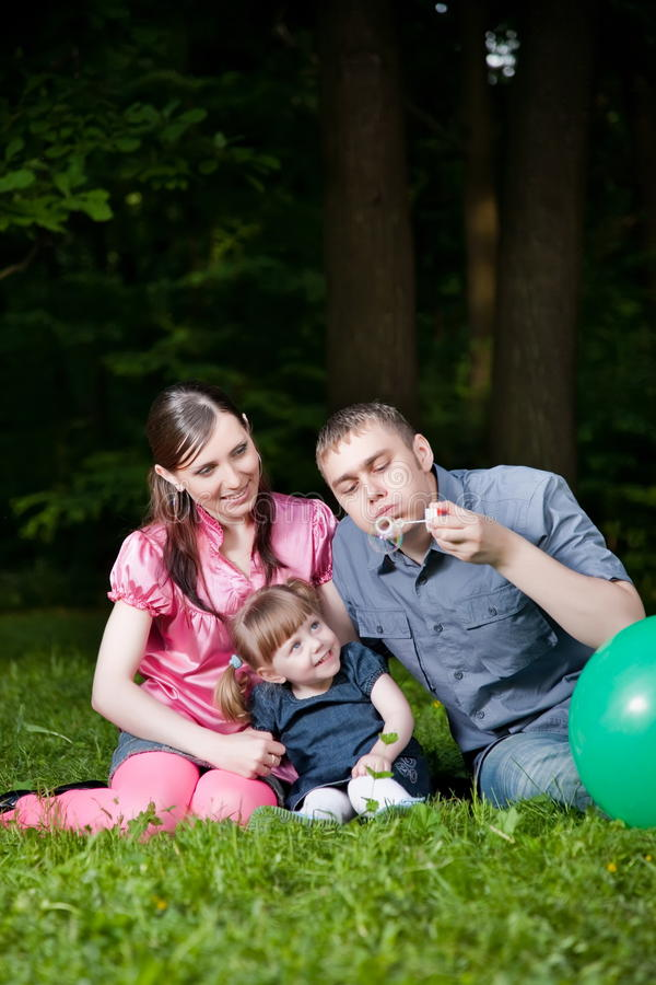 Famille heureux photographie stock