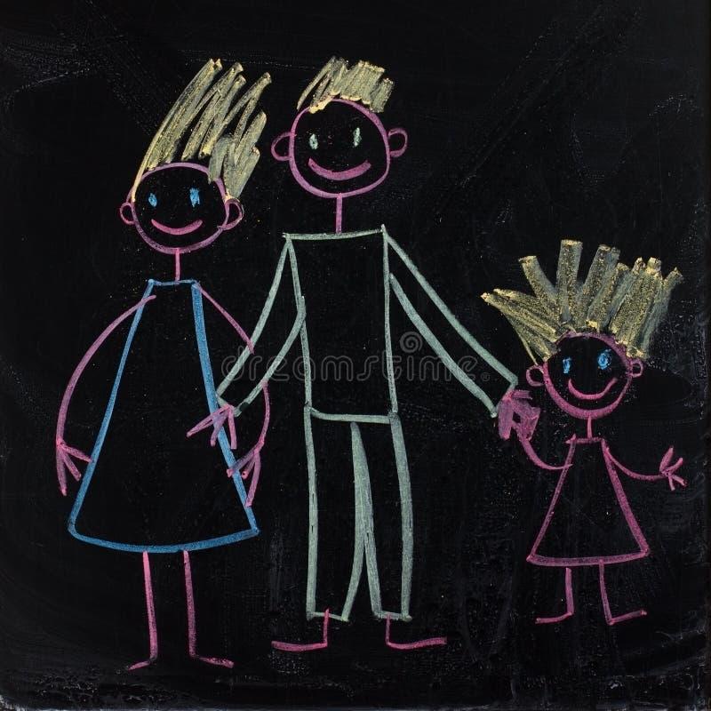 Famille heureux (maman, papa, chéri.) illustration libre de droits