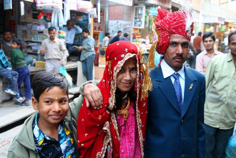 Famille indienne images libres de droits