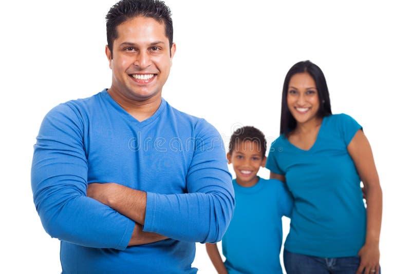 Famille indienne de père image libre de droits