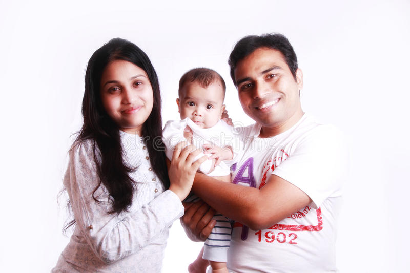 Famille indienne heureuse images stock
