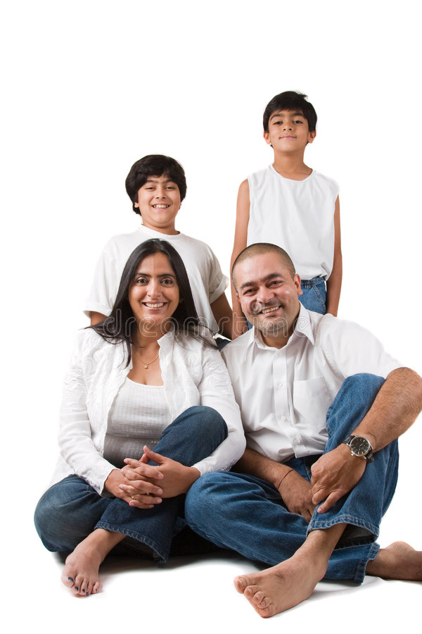 Famille indienne heureuse image stock