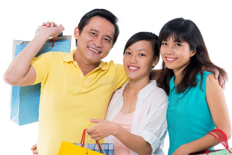 Famille joyeuse image libre de droits