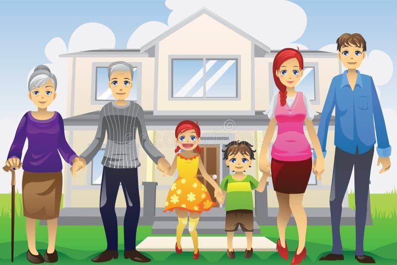 Famille multi de rétablissement illustration libre de droits