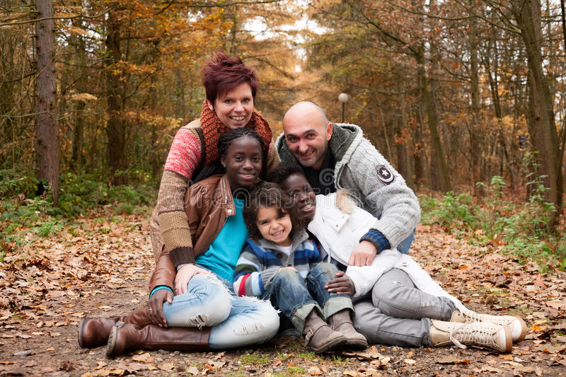 Famille multiculturelle photo libre de droits