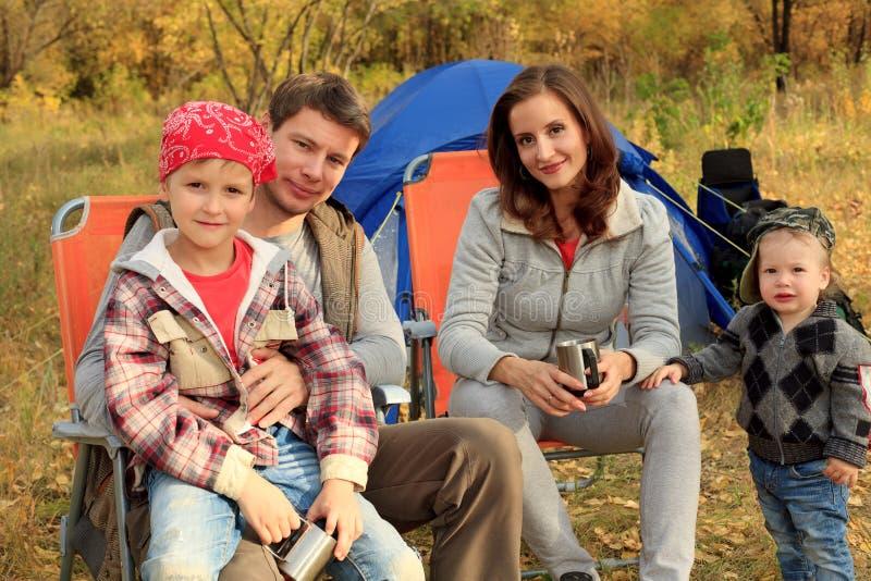 Famille nombreuse photo libre de droits
