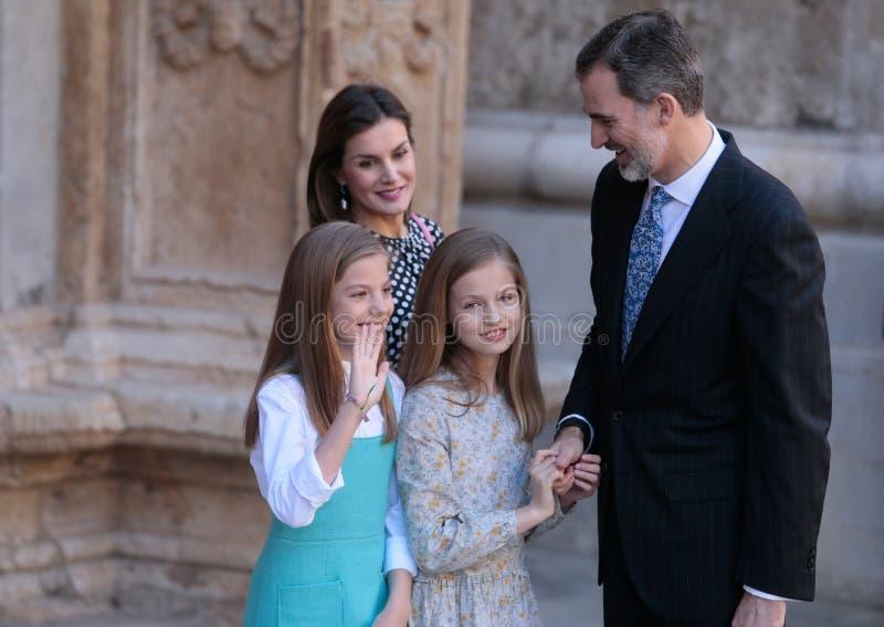 Famille royale de l'Espagne photos stock