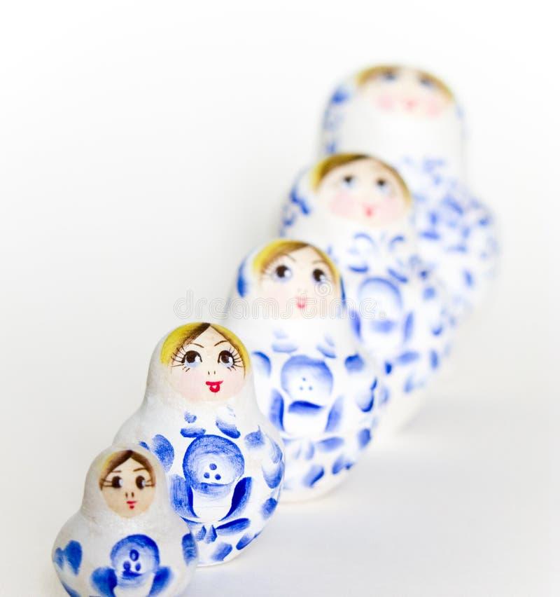 Famille russe de Matryoshka de poupée photo stock