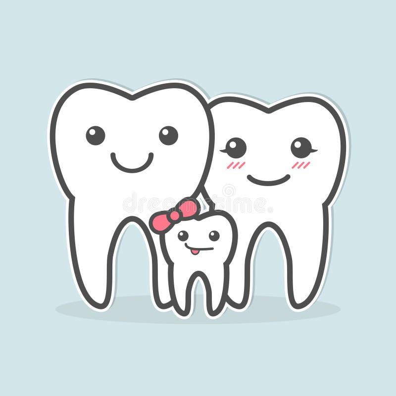 Famille saine de dents illustration libre de droits
