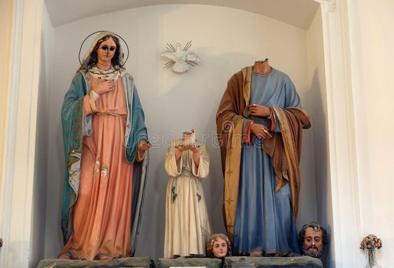 Famille sainte, église de Saint-Nicolas dans Cilipi, Croatie photos stock