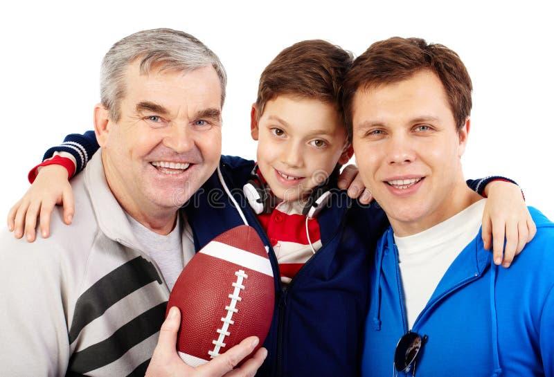 Famille sportive photos libres de droits