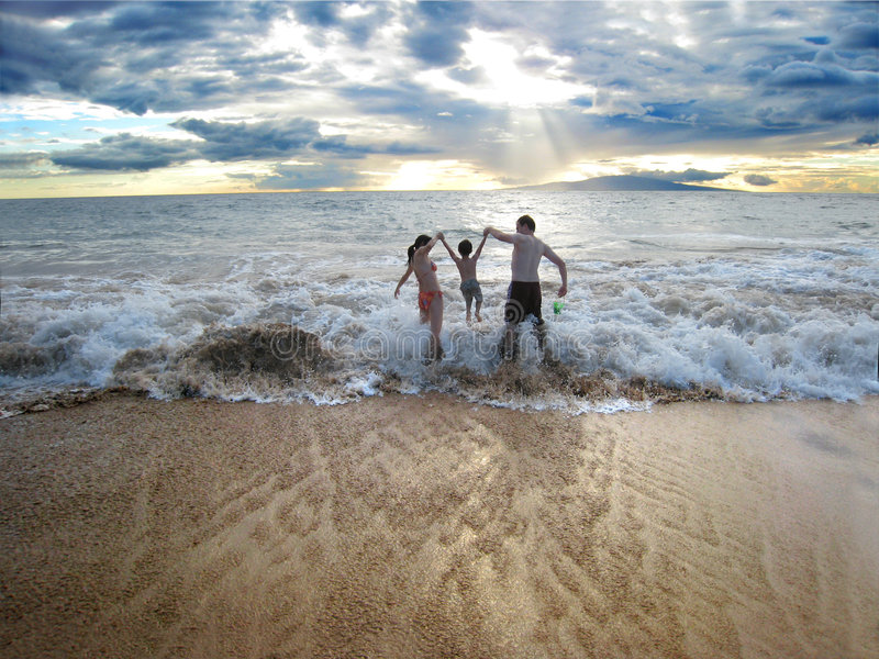 Famille sur la plage