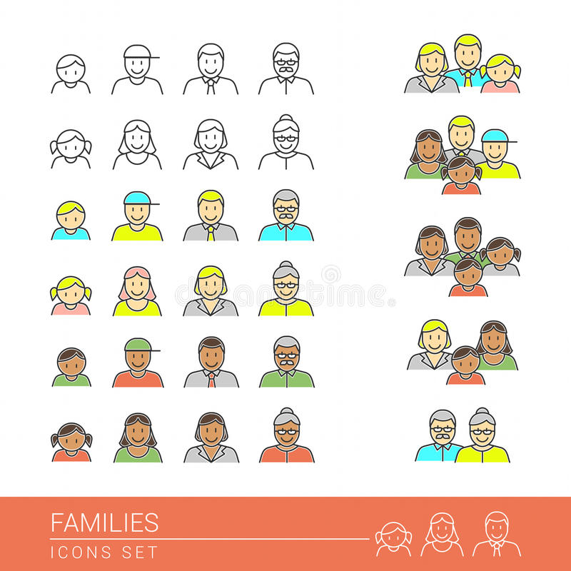 familles illustration stock