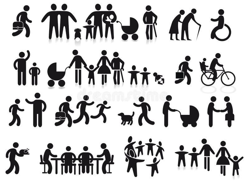 Familles et générations illustration de vecteur