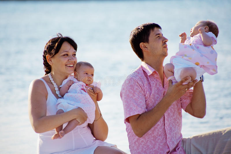 Download Family stock image. Image of happy, newborns, caucasian - 14487699