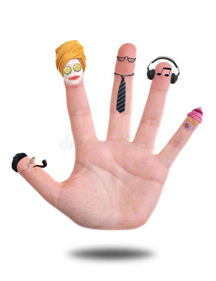 Family. Illustrated as a human hand