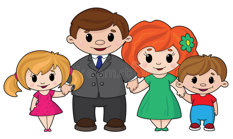 Download Family stock vector. Image of cute, group, mother, comic - 17577073
