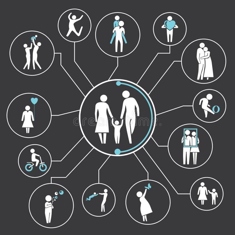 Family vector illustration
