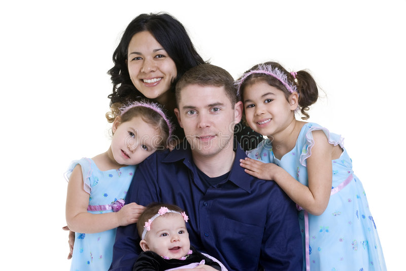 Family. A happy family. Bonding, Love, marriage, children stock photography