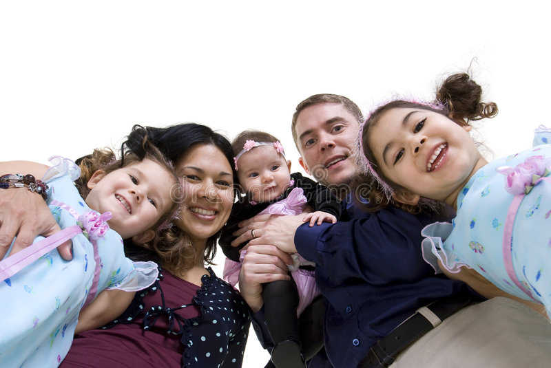 Family. A happy family. Bonding, Love, marriage, children stock images