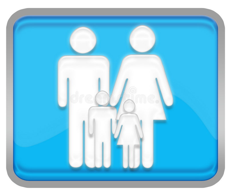 Family. Button for your website vector illustration