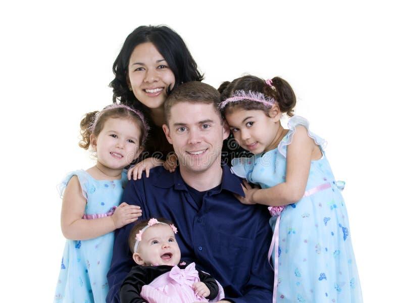 Family. A happy family. Bonding, Love, marriage, children stock image