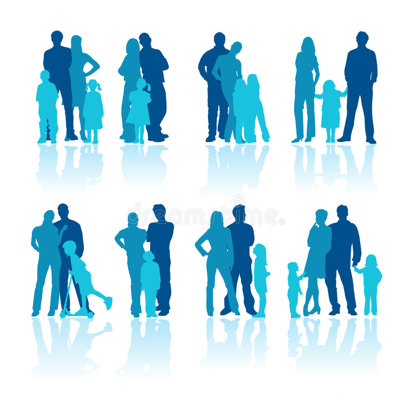 Family stock illustration