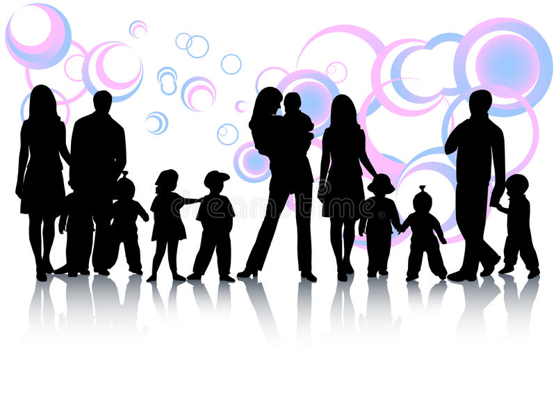 Family and abstract. Illustration of family and abstract royalty free illustration