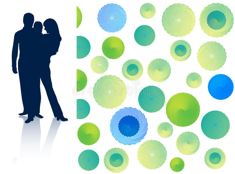 Family and abstract. Illustration of family and abstract stock illustration