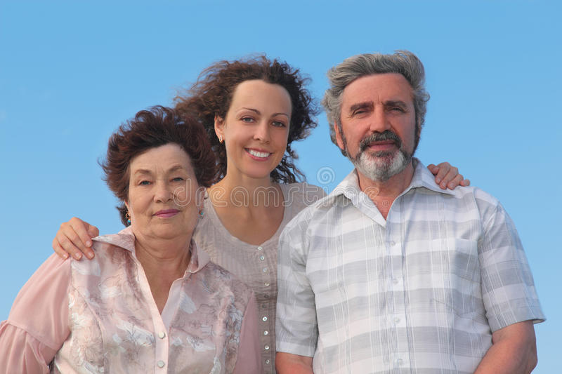 Download Family Of Adult Woman And Her Parents Stock Image - Image: 20005179