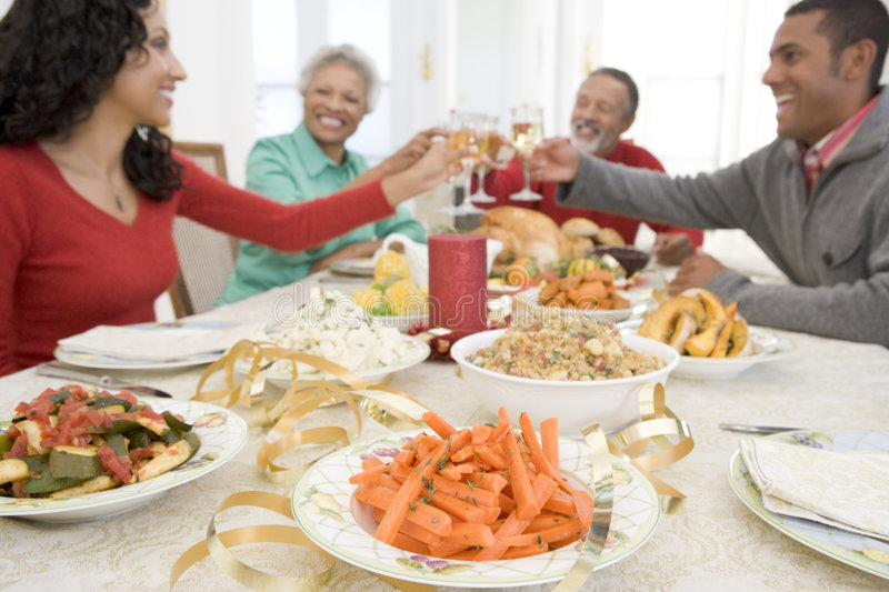 Download Family All Together At Christmas Dinner Royalty Free Stock Photo - Image: 7760695