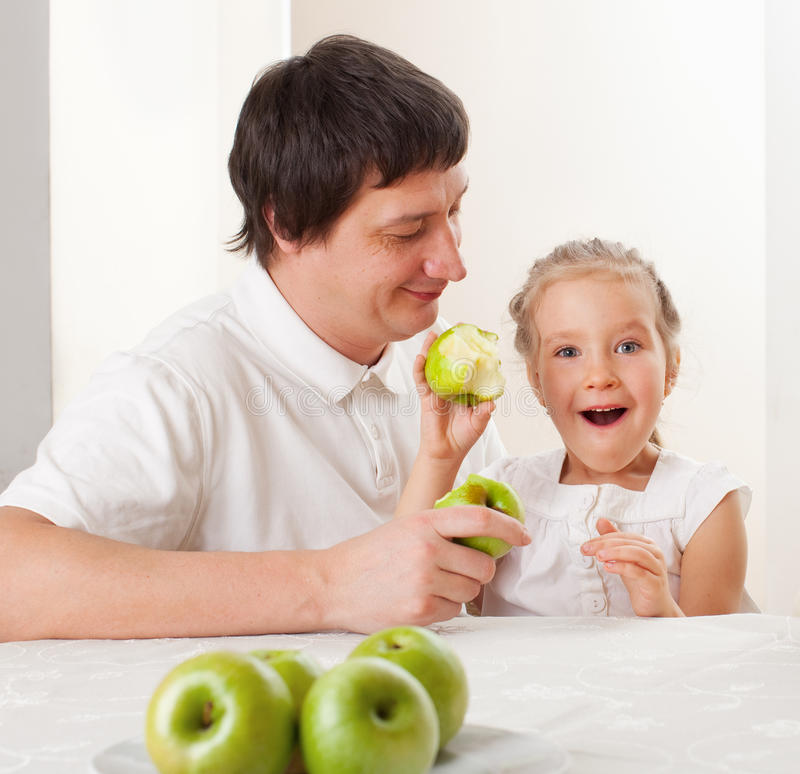 Download Family with apples stock image. Image of fruit, people - 25388187