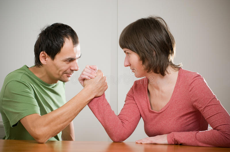Download Family arm wrestling stock image. Image of relationship - 12432701