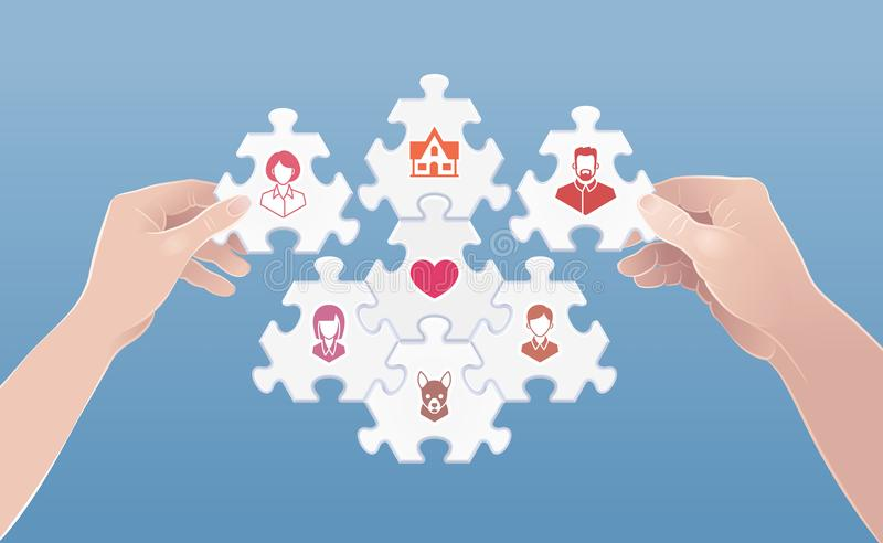 Family As The Cell Of Society stock illustration