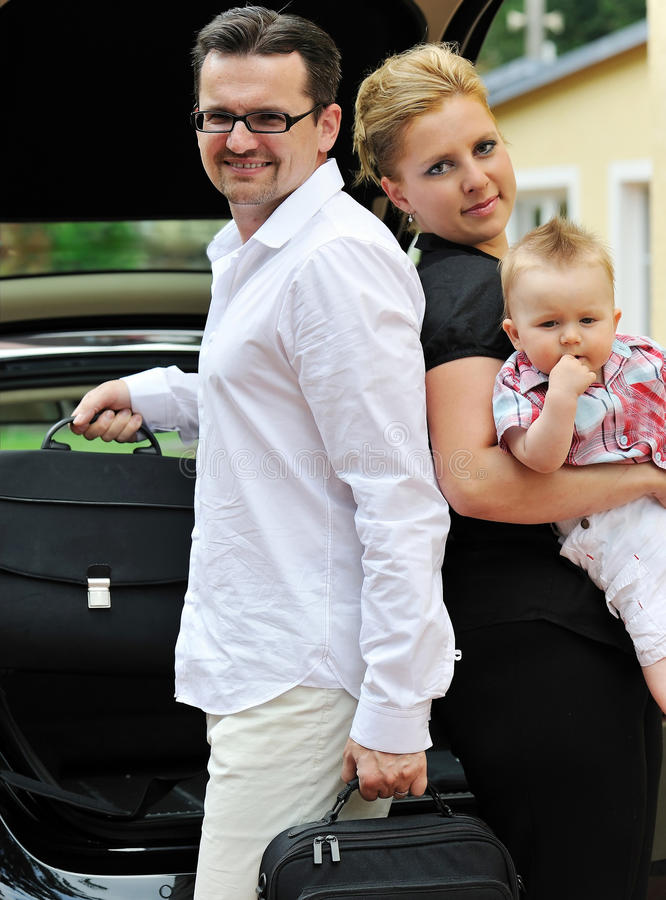 Family Auto-trip Royalty Free Stock Photography