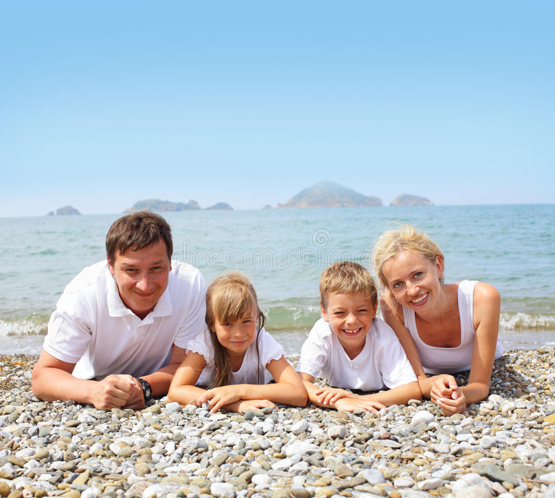 Download Family on the beach stock image. Image of male, couple - 14861595