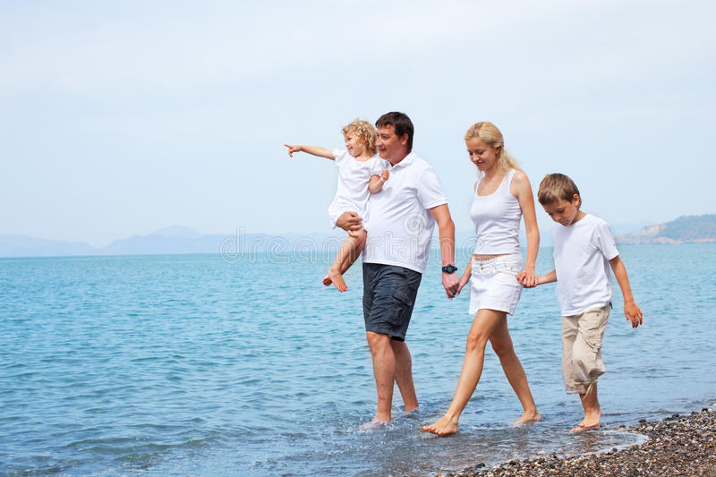 Download Family on the beach stock photo. Image of husband, family - 17819826