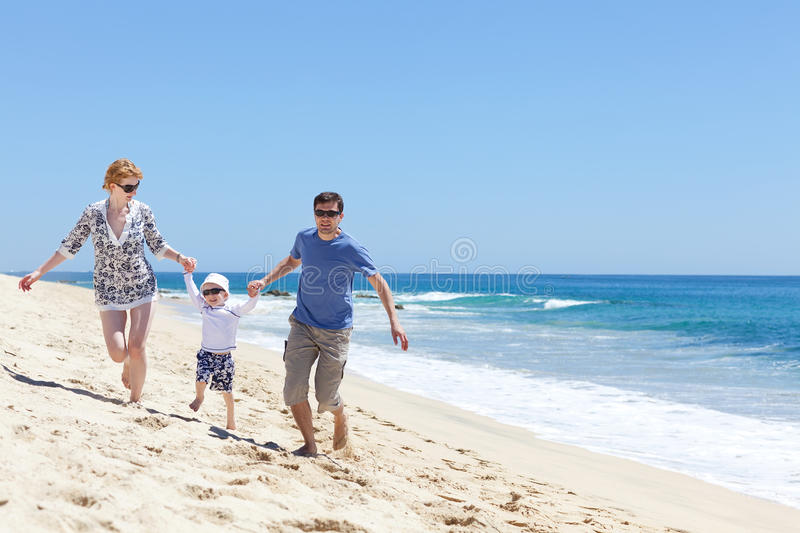 Download Family at the beach stock image. Image of childhood, mexico - 26414741