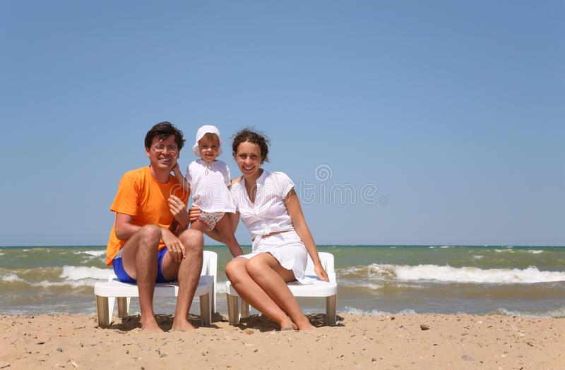 Family On A Beach Free Stock Image