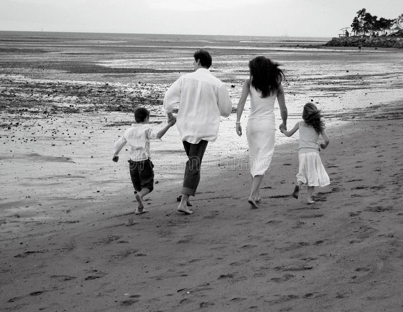 Download family on the beach stock image image of family woman 823169
