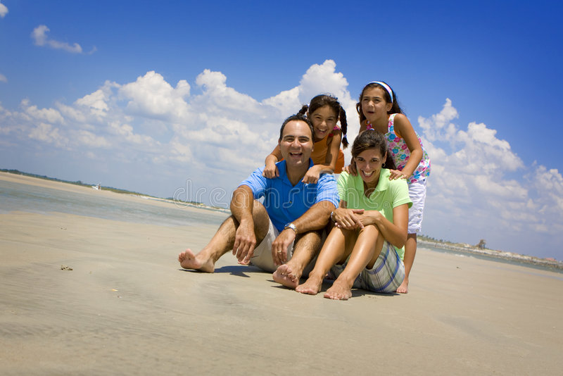 Download Family on beach vacation stock image. Image of beach, family - 5403271