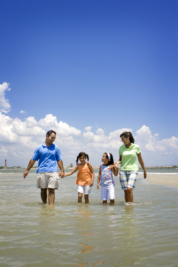 Family on beach vacation royalty free stock photography
