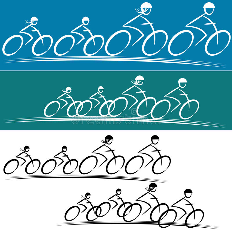 Family Bike Riders. An image of a family of bike riders vector illustration