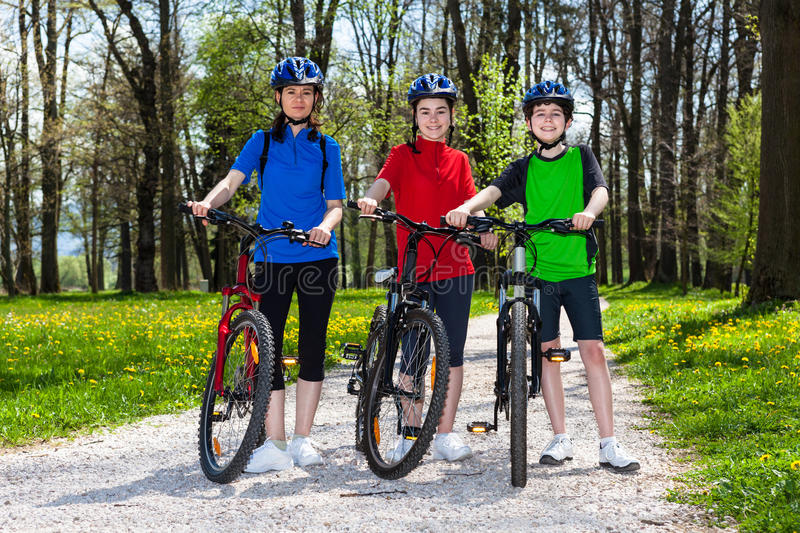 Download Family biking stock photo. Image of family, activity - 25013978