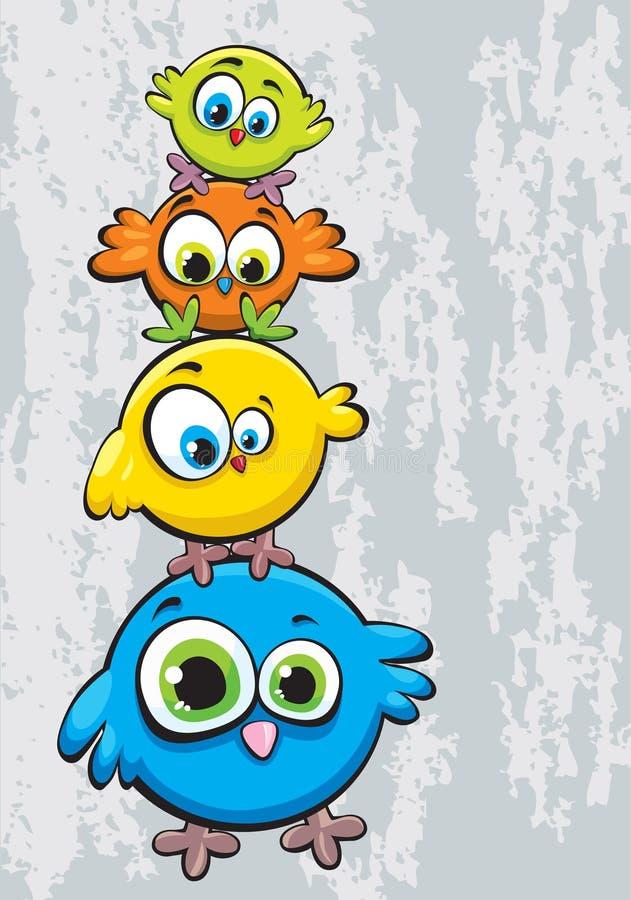 Family of birds vector illustration