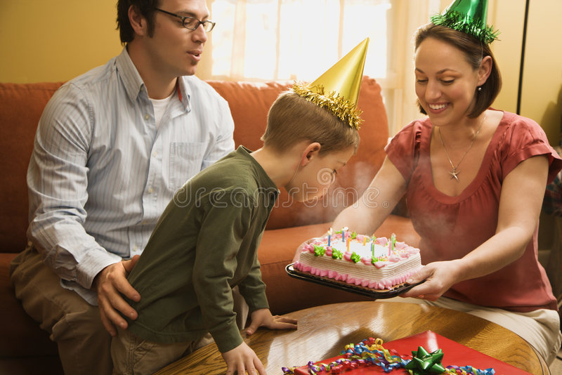 Family birthday party. stock images