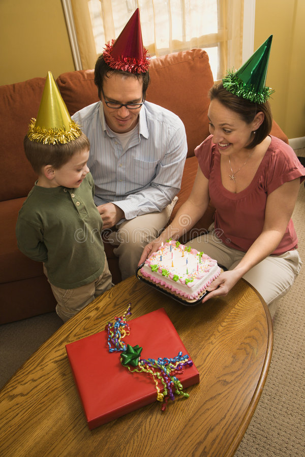 Family birthday party. royalty free stock photo