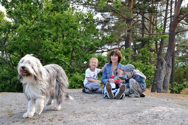 Family on break royalty free stock photography
