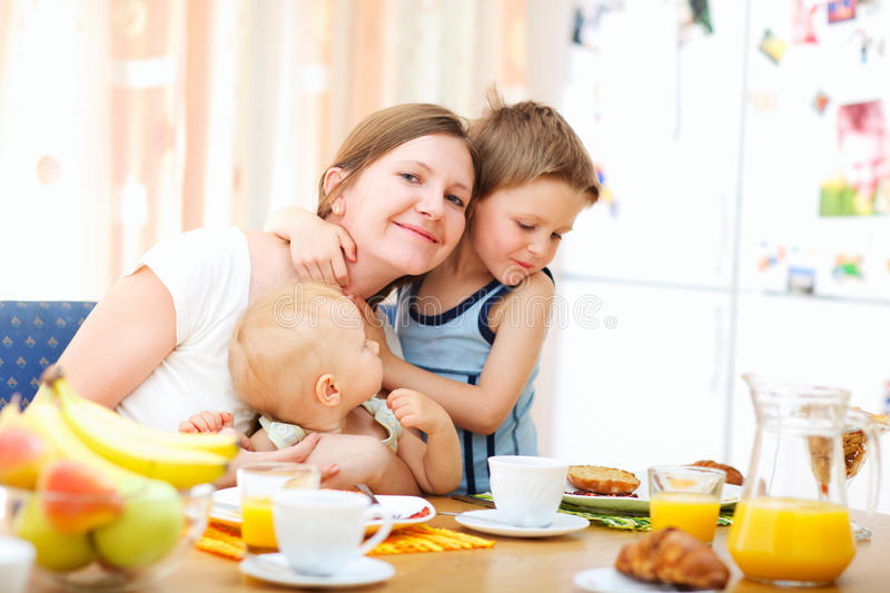 Download Family breakfast stock photo. Image of food, daughter - 10839222