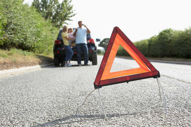 Download Family Broken Down On Country Road Stock Photo - Image: 15183788